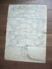 GRAND ARBRE GENEALOGIQUE MANUSCRIT 1810 HERALDIQUE FAMILLE ARRONDEAU