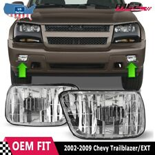 For Chevy Trailblazer 02-09 Factory Bumper Replacement Fit Fog Lights Clear Lens