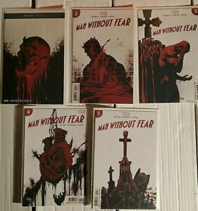 Man Without Fear 1-5 Complete Comic Lot Run Set Marvel Collection NM