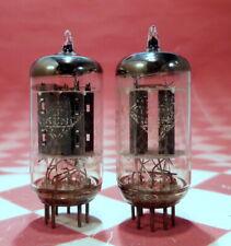 TWO RARE TELEFUNKEN 12AU7 ECC82 SMOOTH PLATE DIAMOND Vacuum Tubes - TESTED GOOD