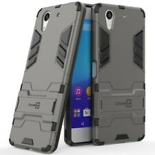 For Sony Xperia X1 Hard Case Gray / Black Slim Kickstand Protective Phone Cover