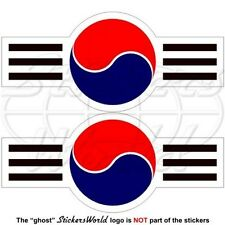 "SOUTH KOREA AirForce Aircraft Roundel ROKAF Korean 95mm(3,7"") Stickers Decals x2"