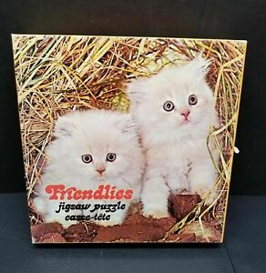 Friendlies Jigsaw Puzzle 81 Pieces (Complete) 1977 - White Kittens