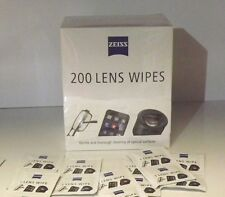Zeiss 200 Pre Moist Lens Wipes Cleans Lenses Individual Sachets Glasses Camera