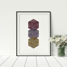 Hexagon conceptual simplictic print stylish wall artwork fashion prints