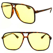 Yellow Lens Sunglasses Night Vision Driving UV400 Men's Womens Glasses