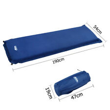 Single Self Inflating Camping Mattress 10cm Thick Mat Air Bed Blue