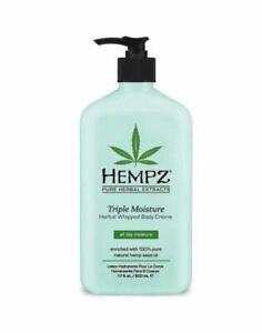 Hempz Triple Moisture Herbal Whipped Body Creme Skin Hydrating Lotion - 500ml
