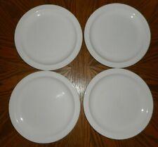 Set of 4 STONEHENGE Midwinter Dinner Plates Large Made in England Wedgwood White