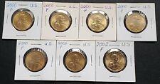 Lot of 7x 2000-P & 2002-P USA Sacagawea $1 Dollars ***Mint Condition***