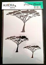 Stencil by Aurora Arts A4 (29x21cm) Desert Tree 190mic Mylar craft stencil 0117