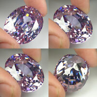 F 30 CTS TO 60 CTS SPARKLING HUGE OVAL LAB CZ LAVENDER SAPPHIRE GEM A16