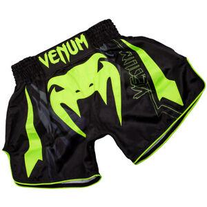 Venum Sharp 3.0 Lightweight Muay Thai Shorts - Black/Neo Yellow
