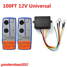 New DC12V 100ft Autos ATV Truck Wireless Winch Remote Control Switch Handset Kit