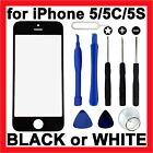 LCD Replacement Glass Front Screen Panel Cover + Tools for Apple iPhone 5 5C 5S