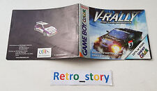 Nintendo Game Boy Color V-Rally Championship Edition Notice / Instruction Manual