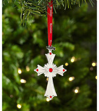 Waterford Crystal 2014 Silver CROSS Christmas Ornament - NEW / BOX!