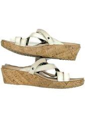 Crocs Women's 11W Wide Ivory Cork Wedge Sandals