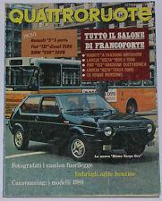 QUATTRORUOTE 9/1979 BMW 520 – RENAULT 5 GTL – FIAT 131 DIESEL SUPER 2500