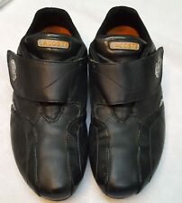 LACOSTE  Sport Mens Black Leather  Fashion Sneakers Shoes Size 9