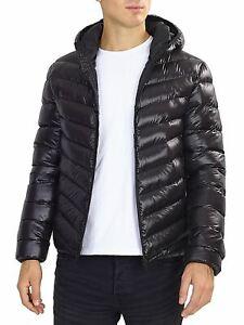 Boys Padded Puffer Coat Ages 7 8 9 10 11 12 13 Years Bubble Jacket Black Shine