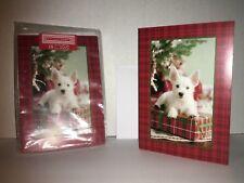 Terrier Hallmark Holiday Greeting Cards Christmas Unused 18 ct Dog Puppy B4