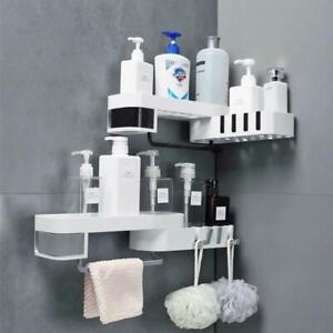 Corner Bathroom Organizer Shelf Shampoo Cosmetic Storage Rack Wall Mounted Kitch