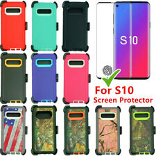 Defender Case For Samsung Galaxy S10 w/Screen Protector & Clip Fits OtterBox
