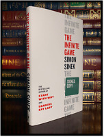 The Infinite Game ✎SIGNED✎ by SIMON SINEK New Hardback 1st Edition First Print