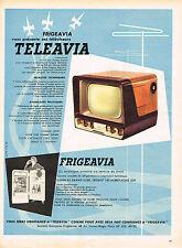 PUBLICITE ADVERTISING 045  1956  FRIGEAVIA TELEAVIA  téléviseur réfrigérateur