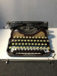 Antique L.C. Smith Corona Red Maroon Vintage Typewriter 1930s ? Selling As Is