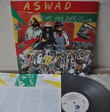 Aswad Live And Direct Japan LP 1984 Polystar 25SI-209 Insert Island White Label