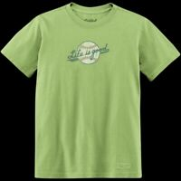 Good Kids By Life is Good Girls T Shirt Ballyards Scipt Baseball Size S 5/6 NWOT
