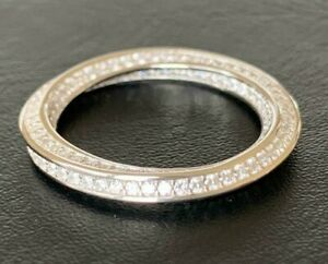 925 Sterling Silver Eternity Wedding Twist Stack Band Cubic Zirconia CZ Ring 689