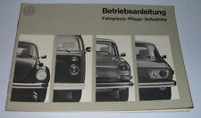 Betriebsanleitung VW Käfer Typ 1 Bulli Typ 2 1600 Typ 3 411E Typ 4 1972 Teil 2!