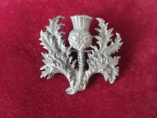 ANTIQUE PEWTER SCOTTISH THISTLE BROOCH