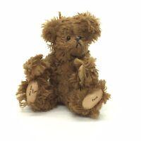 """Wee Gem Mini Teddy Bear Brown Cocoa Chu Ming Wu 3.5"""" Jointed 1995 #23/3000"""