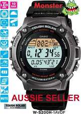 AUSSIE SELLER CASIO WATCH W-S200H-1AV WS200 W-S200H SOLAR 12-MONTH WARRANTY