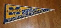 1997 Michigan Wolverines pennant National Champs Tom Brady Charles Woodson