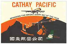 Cathay Pacific Airlines (Orient)   Vintage Looking  Sticker Decal Luggage Label