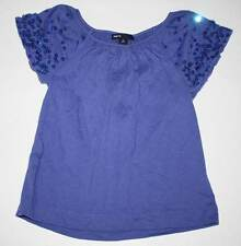 EUC Gap Kids Glam Canyon Alice Blue Sparkle Sleeve Top XS