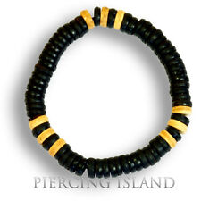 Surfer Armband Dehnbar Holz Beads Design Handarbeit Black B128