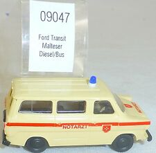 MALTESE FORD TRANSIT AMBULANZA Diesel IMU EUROMODELL 09047 H0 1:87 conf. orig. #