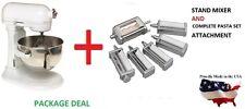 New KitchenAid stand mixer 5-QT KV25GOXww AND KPEX Pasta Excellence Set Attachmt