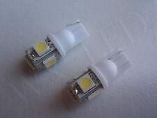 2 X WHITE T10 194 168 2825 158 W5W LED LICENSE PLATE LIGHT BULBS 5050 SMD 5 LED