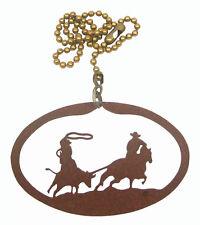 Team Roping Steer Calf Rodeo Fan Pull - Ornament