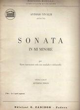 Antonio Vivaldi - SONATA IN MI MINORE per Flauto e Basso Continuo