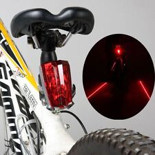 Bicycle Bike Cycling Rear Tail Laser LED Lights: 2 Laser Beam and 5 LED Safety