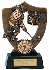 ICE HOCKEY SOLID RESIN TROPHY AWARD PUCK STICK PLAYER FREE ENGRAVING A831A B11