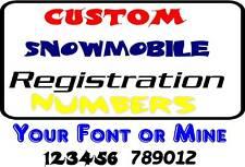 Custom Snowmobile Number Registration ski doo sled #